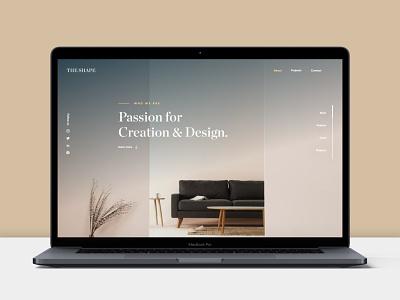 The Shape Website design website ui design