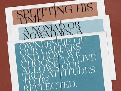 Urban Nomad editorial layout illustration magazine lettering artist typography lettering art editorial lettering zine