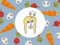 'The Crafty Veganista' Icon Artwork