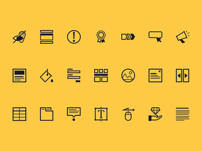 Icon Set - Design System Guide ui  ux ux line icons foundations component library components design icon design sketchapp sketch illustrator illustration web design ui vector accessibility icon set icons icon design system