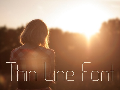 Thin Line Font font graphic design typography