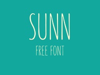 SUNN - Free Handwriting Font