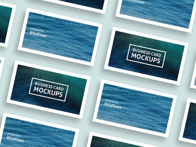 Simple Business Card Mockups clear clean business card photoshop template design mockups