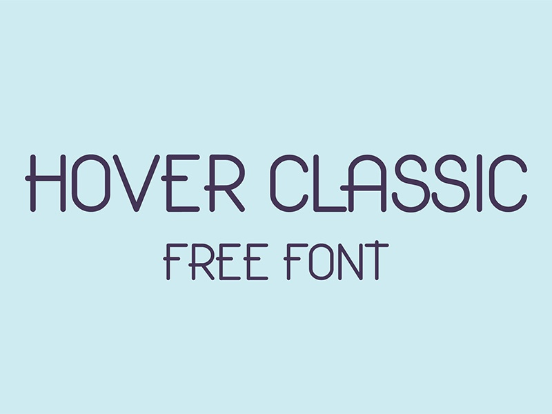 Hover Classic Free Font solid clean modern design typeface typography freebie free font