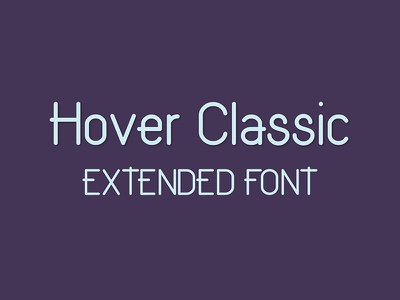 Hover Classic Extended Font solid clean modern design typeface typography freebie free font