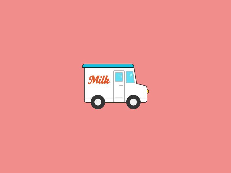 Milk Truck 1 sketch delivery truck milk truck milk