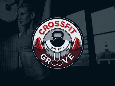 Crossfit Gym Logo kettleball logo weights excercise gym crossfit