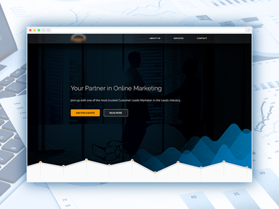 Marketing Company - Landing Page bright light clean cloud network data graph ux product landing page marketing