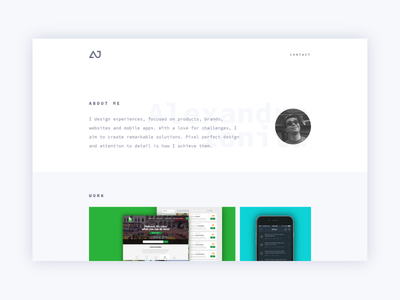 Personal Website may1reboot reboot may white simple minimal personal redesign portfolio