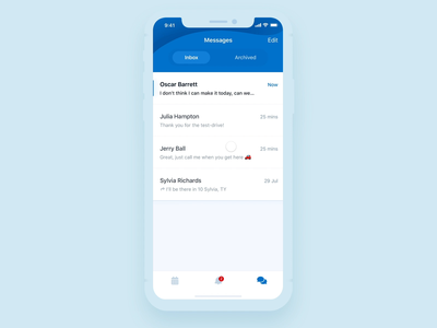 Inbox page animation gestures drag archive messages ios motion animation protopie iphonex message transition pull refresh inbox motion prototyping