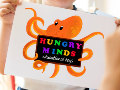 Hungry Minds- Playful yet Informative brand identity graphic design logo design