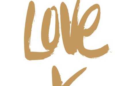 love x love (w/ @stephyds) love x print art poster type handrwritten brush mission vantage design gold hillsong family