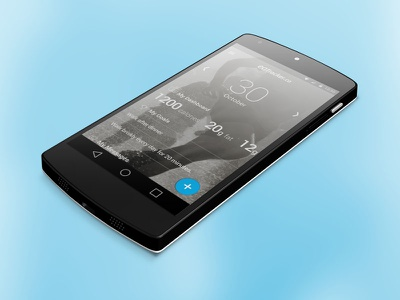 eaTracker App for Android L on Nexus 5 app android l l android nexus google tracker mobile ui ux material design