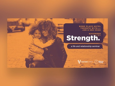 Strength - Event Promo promo canada toronto family hillsong church vantage event branding handout design print