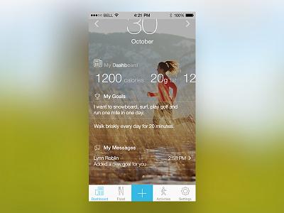 eaTracker.ca App ios iphone nutrition dashboard health ux ui apple mobile design app