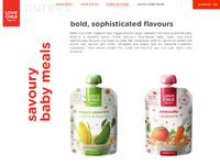 Lovechildorganics website concept3 products