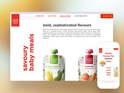 Healthy Organics Product Website landing interface website ux ui responsive marketing food product nutrition organics health