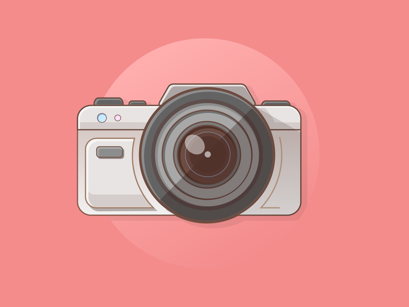 Photo Camera Logo flat gradient flat design camera photo camera logo camera logo camera icon photo camera