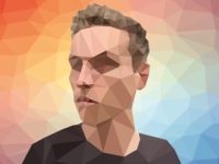 Low-poly selfie