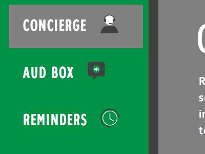 Dashboard Menu on Trippal Website icons navigation menu ui user interface