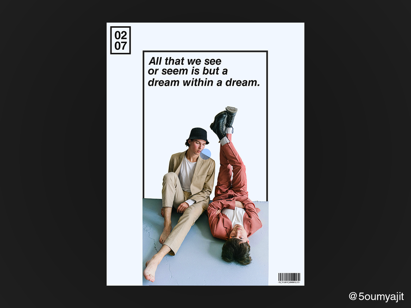 Dream - Poster Design color aesthetic print design prints print colour scheme colours layout minimalism minimal poster poster design posterdesign posters poster a day graphicdesign dribbble best shot dribbble designfeed design