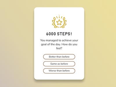 Pop-Up / Overlay - Daily UI 016 dailyui16 016 tracker achievement habit steps overlay popup dailyui ui daily 100 challenge design uidesign dailyuichallenge daily ui
