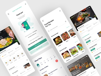 Food App  Concept ux ui branding mobile app design design website web app ui ux ui design mobile app