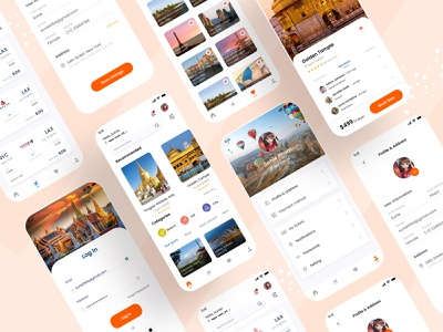 Travel App Design mobile app design branding website ui ux ui design uiux app design world journey world tour new places places tour journey travel app ui travel app travel