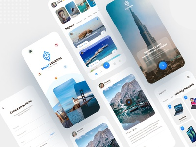Travel Blog App Ui Design branding website ui design mobile app app design uiux journal world journal today blog new blog blog travel app ui best places blog tour news tour blog travel app travel blog