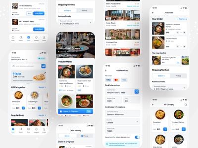 Food App Ui Design ux ui design branding ui ux ui design mobile app app pasta pizza order food order app design restaurant app restaurant food delivery food app food