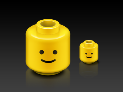 Lego head by Hyuk-in Kim on Dribbble