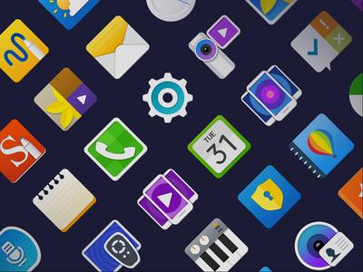 2015 Galaxy icon set
