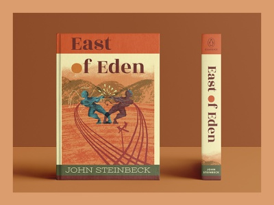 East of Eden Book Design spine design book spine design typography illustrator illustration illustrated book cover cover design package design literary illustration book cover illustration book cover design book cover book design