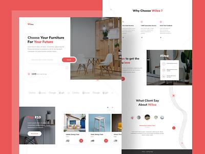 Free Furniture Store Landing Page clean design furniture website concept web concept webdesign free landing page landing page website design web