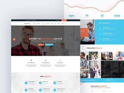 Free Consulting Landing Page free website template free website web designer website concept web design psd template website web