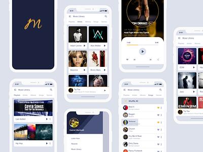 Free Music Application UI Kit Design app design app mobile app uiuxdesign ui kits free ui kit xd design xddesign xd free ui ux design ui design ui uiux
