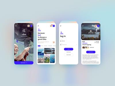 Free Travel App UI Kit (Figma) ui ux travel app freebie ui apps mobile app app design figma figma design ui kits free ui kit free ui freeui uidesign ux design ui design ux ui
