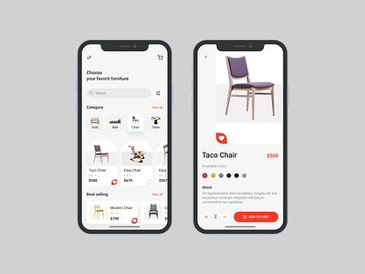 Free Furniture Store APP UI Kit Concept uidesigner figma design mobile app design app design ui kit design free ui kit free ui kits ui kit uxdesign uidesign ux ui