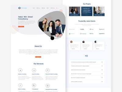 Free Consultant Landing Page (XD) free web design free website template web design web xd landing page landing page design landing page xd design design xd