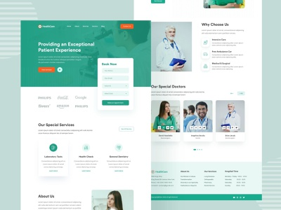 Free Healthcare Landing Page web design landing page xd design xd free xd landing page free landing page free ui ui website web