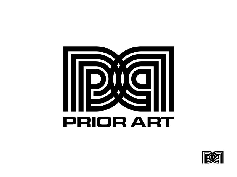 Prior Art logo strokes sound music black and white icon design icon branding retro futuristic retro-futuristic retro symbol design symbol logo design logo record label prior art