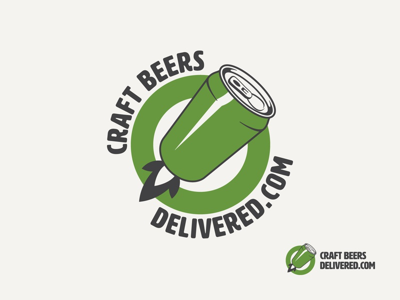 Craft Beers Delivered Logo Design craft beer craftbeer craft logo sketches can beer can green icon design icon symbol design symbol logodesign logo visual identity web shop beer branding beers beer