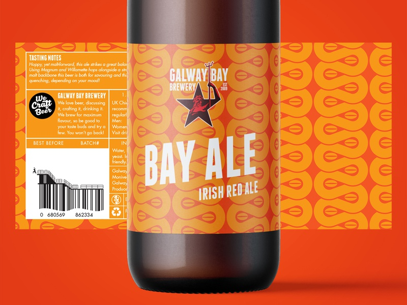 Bay Ale Label Design beer branding illustration packaging pattern design pattern craft craft beer brewery beer label design label design label beer label logo