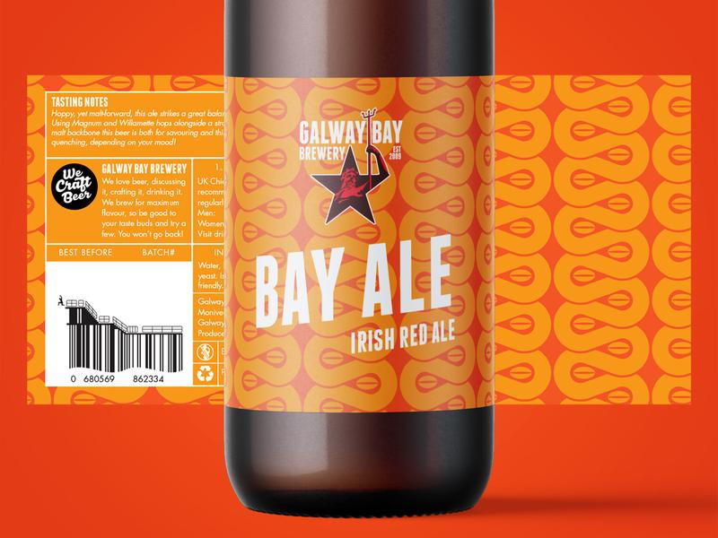 Bay Ale Label Design beer branding illustration packaging pattern design pattern craft craft beer brewery beer label design label design label beer label logo