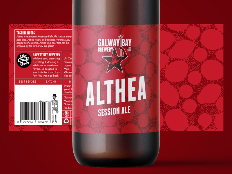 Althea Label Design ale althea beer branding illustration packaging pattern design pattern craft craft beer brewery beer label design label design label beer label logo