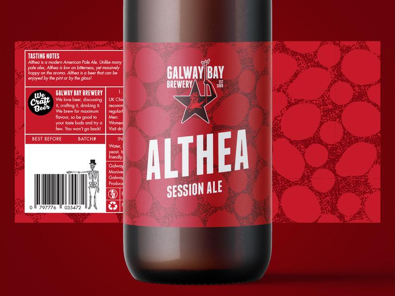 Althea Label Design ale althea beer branding illustration packaging pattern design pattern craft craft beer brewery beer label design label design label beer label logo