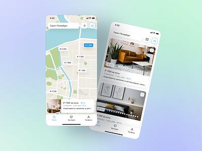 Property rental app / Приложение для аренды недвижимости airbnb ux app ui design