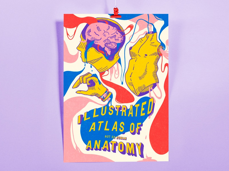 (not so human) human body colorful human anatomy tipography posterdesign poster design illustration
