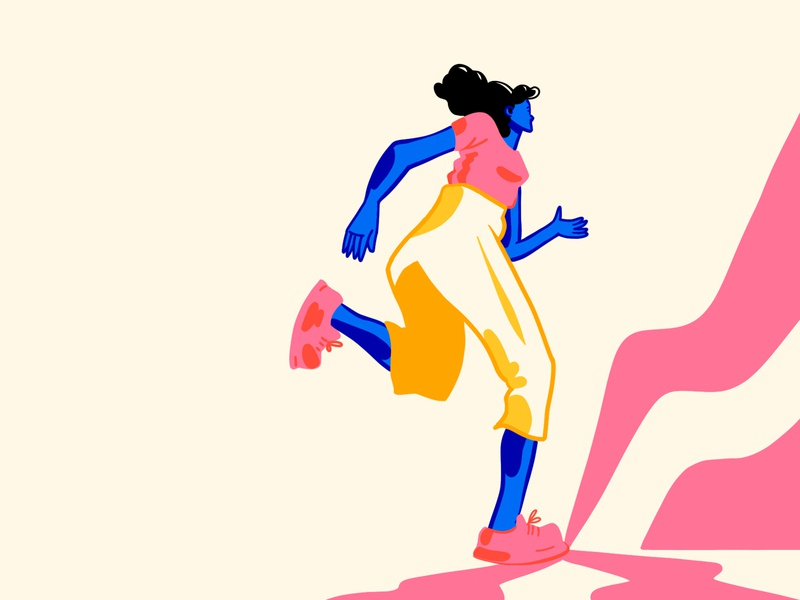 Dance it out flat illustration characterdesign flat music dance characters colorful illustration