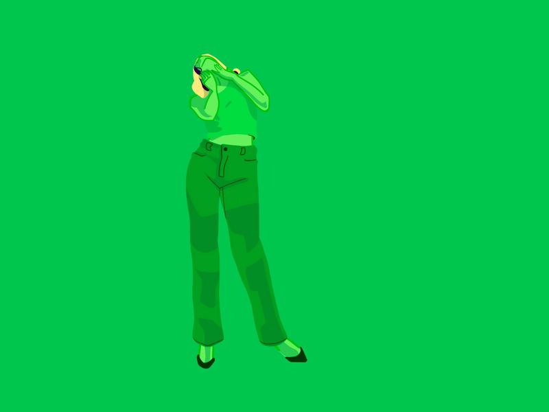 Dua physical dua lipa ilustração character flat illustration flat dance colorful illustration